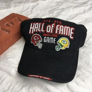 Reebok NFL Hall of Fame Hat AFC NFC Chiefs Packers
